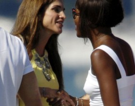 Naomi Campbell meet Queen Rania of Jordan